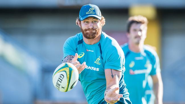 Scott Higginbotham trains with the Wallabies at Leichardt Oval.
