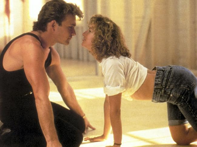 Patrick Swayze and Jennifer Grey in Dirty Dancing. Picture: Supplied