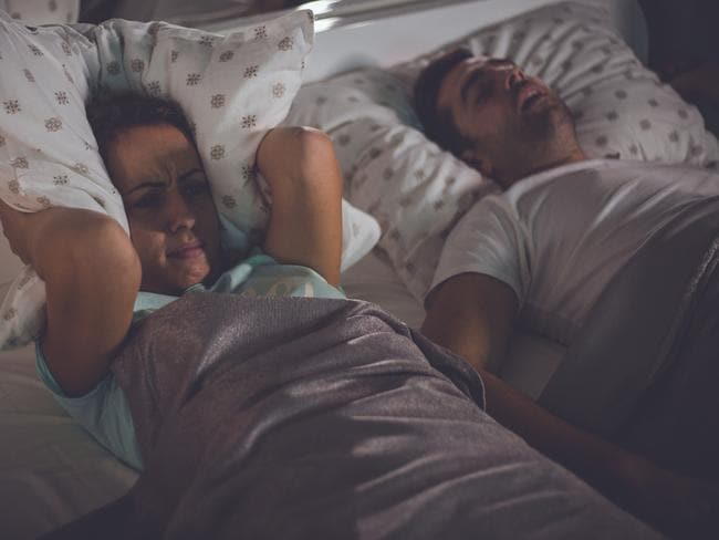 About 52 per cent of women said they hated the sound of snoring.