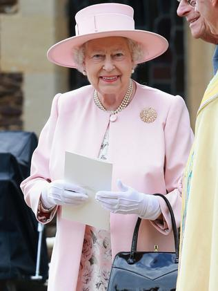 Her Majesty at Princess Charlotte's christening. Picture: Chris Jackson/Getty Images