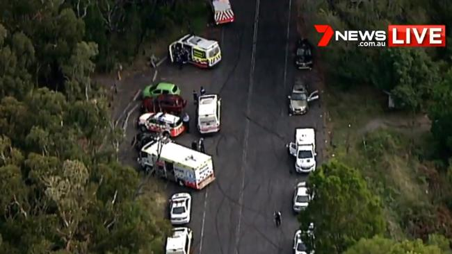 Emergency crews at the scene. Picture: 7 News Sydney