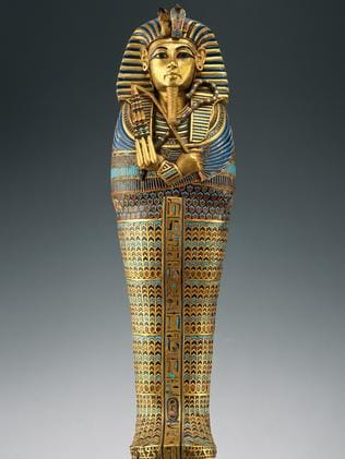 The coffin of Tutankhamun. Picture: Supplied
