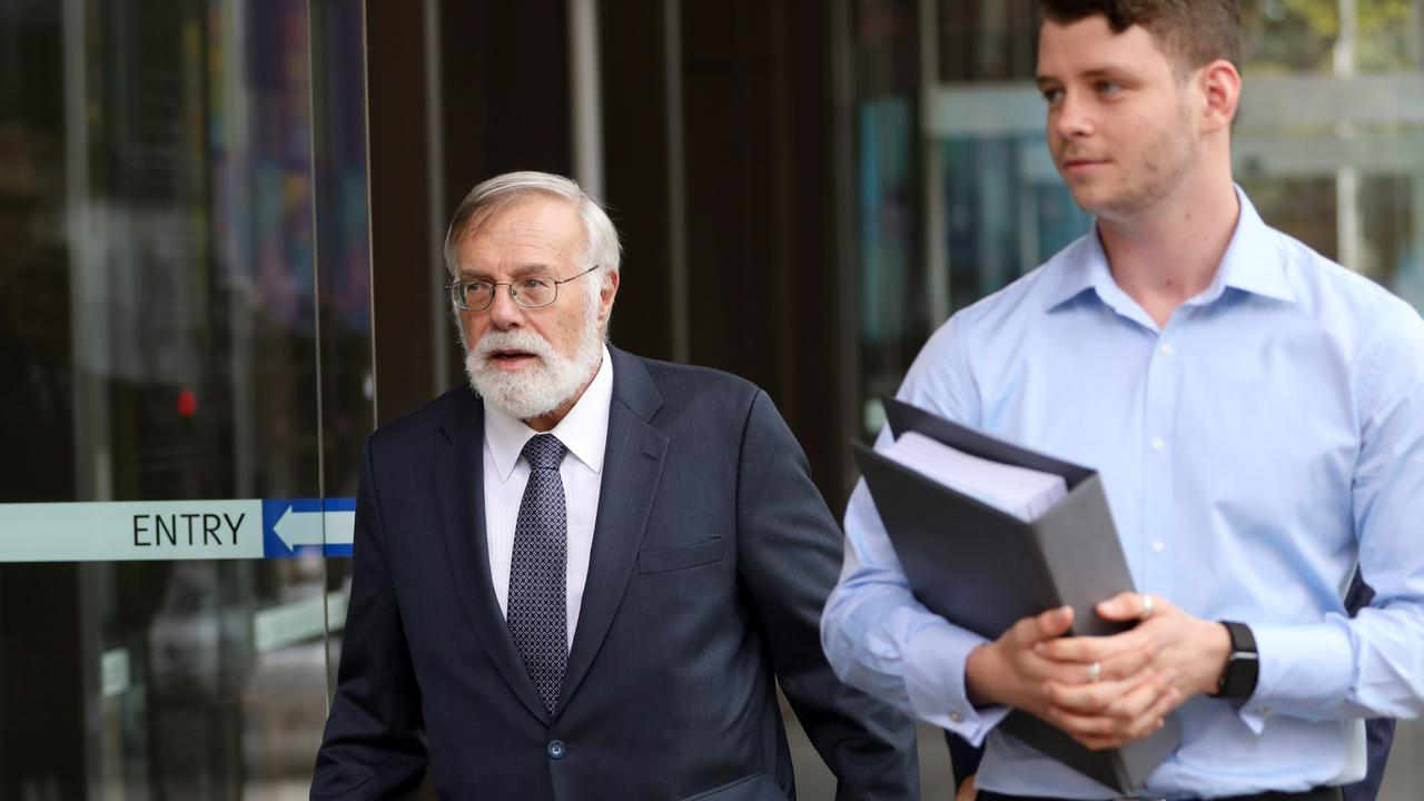 Martin Einfeld QC Jack De Belin's barrister pictured as he arrives at Federal Court, Sydney. Picture by Damian Shaw