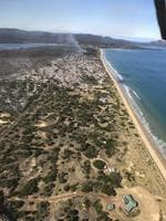 Aerial images showing burnt out areas from a bushfire at Dolphin Sands on Tasmania's East Coast. Picture: DEBBIE WISBY