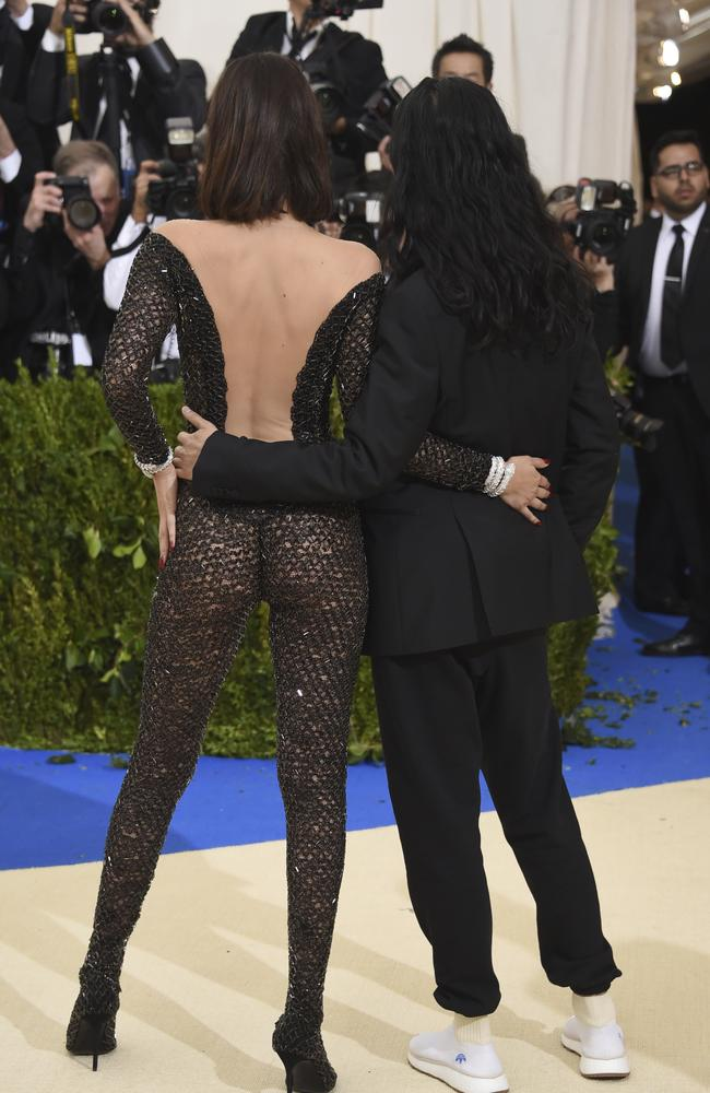 Alexander Wang, right, and Bella Hadid attend The Metropolitan Museum of Art's Costume Institute benefit gala in New York. Photo by Evan Agostini/Invision/AP