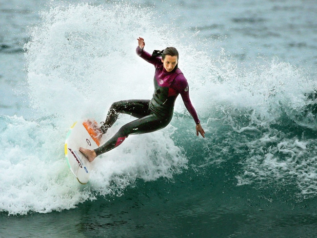 Surfing legend Layne Beachley at Freshwater Beach. Photo: Troy Snook