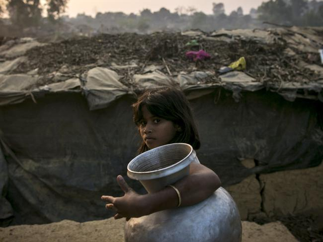 Waves of Rohingya civilians have fled across the Bangladesh border since last year, with most living in makeshift camps and refugee centres. Picture: Allison Joyce/Getty Images