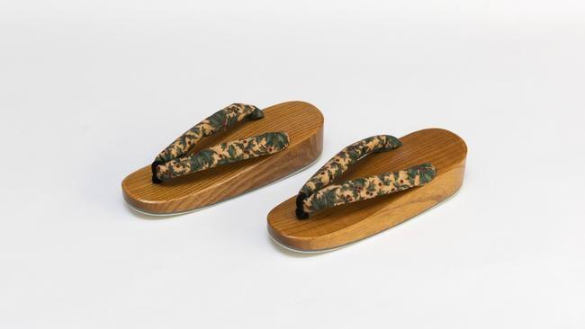 Precious keepsake: the Japanese sandals.