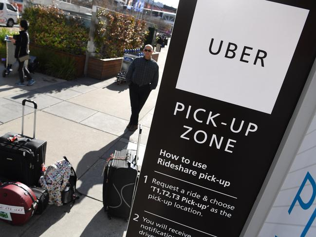 The class action claims Uber was operating illegally in Victoria until 2017. Picture: Joe Castro/AAP