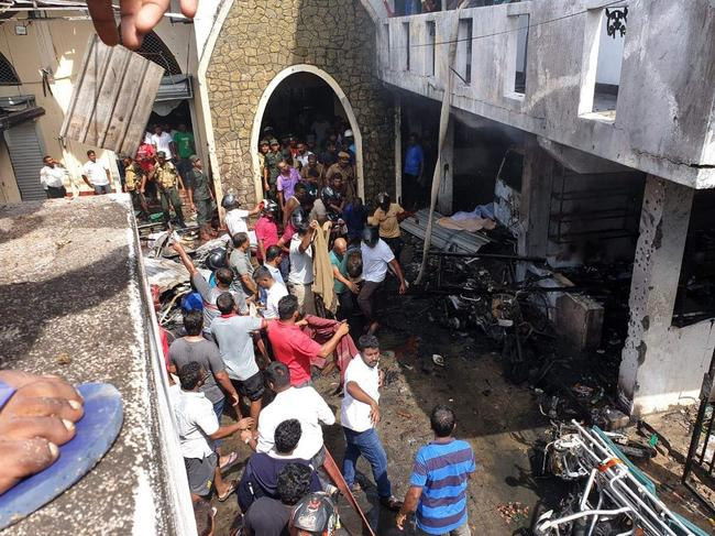 The aftermath of an attack at Zion Church in Batticaloa, East Sri Lanka. Picture: Supplied