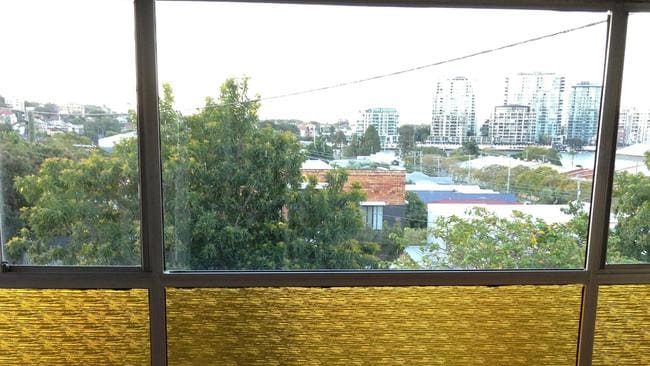 BEFORE: The view from the original sun room in the house at 12 Wordsworth St, Bulimba, before it was renovated.