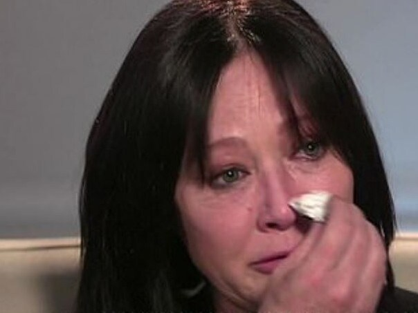 A tearful Shannen Doherty revealed on US TV that her cancer has returned. Picture: ABC News