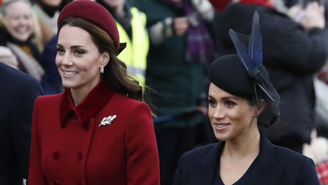 The household split signals a shift in the professional relationship between Kate Middleton and Meghan Markle. Picture: AP Photo/Frank Augstein