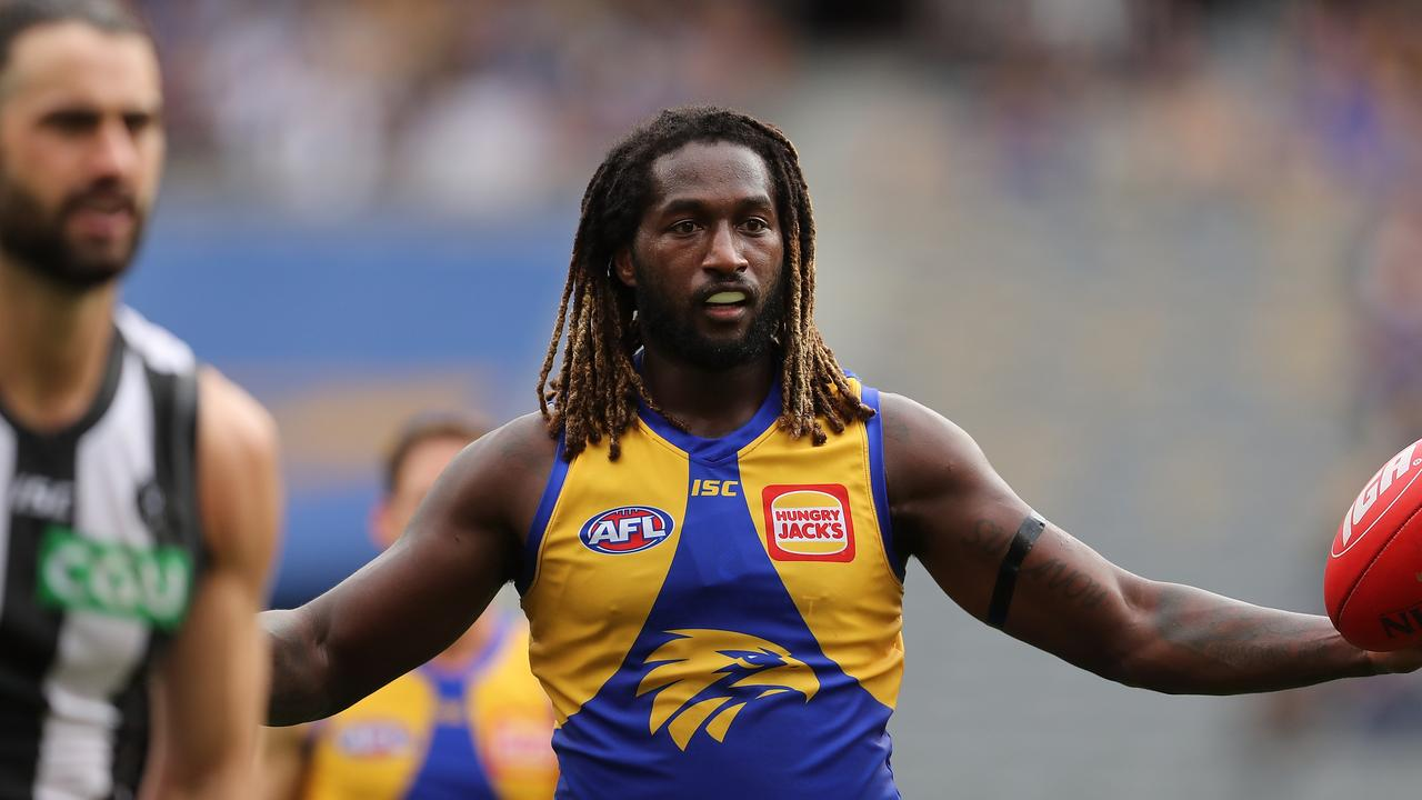 Nic Naitanui was too good for Brodie Grundy and the Eagles (Photo by Paul Kane/Getty Images).