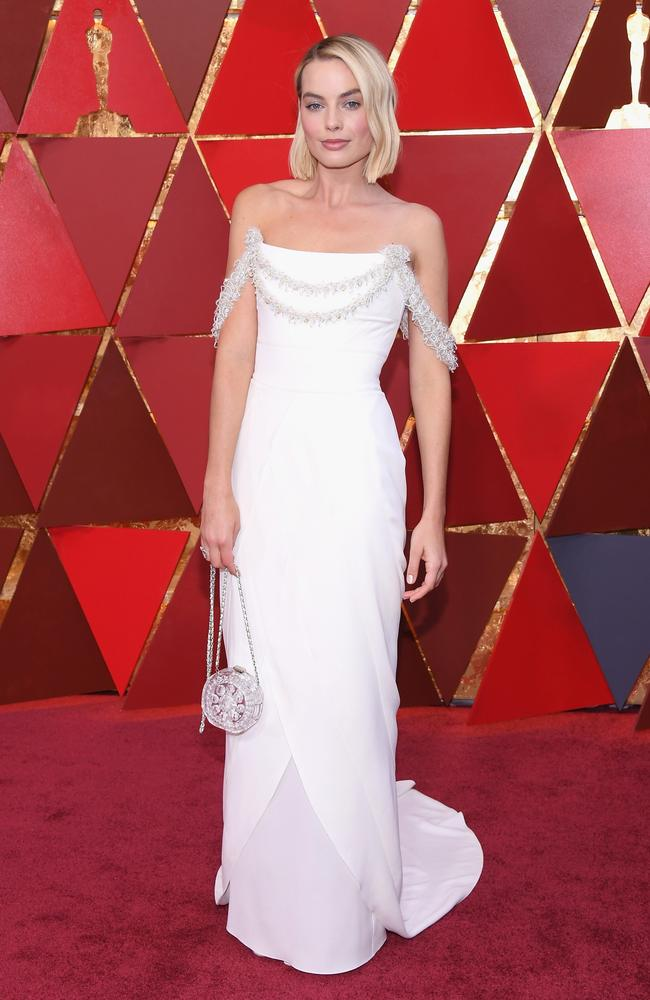 Margot Robbie just missed out on Best Actress but she certainly won the red carpet. Picture: Kevork Djansezian/Getty Images