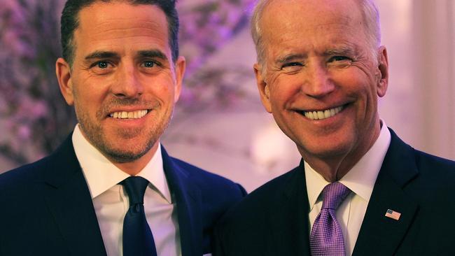 Hunter and Joe Biden. Picture: Getty Images/Teresa Kroeger