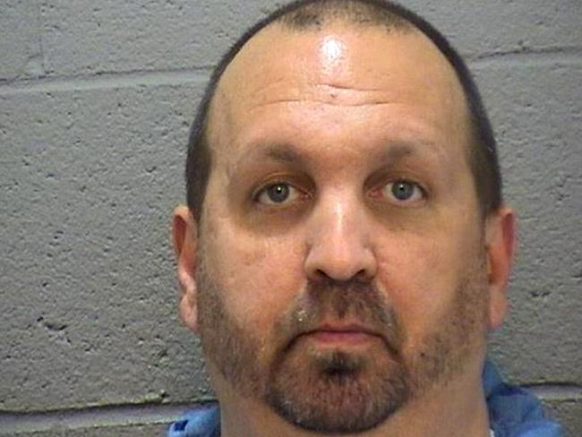 Accused ... Craig Hicks, 46, allegedly shot dead three members of a Muslim family. Picture: AFP/Durham County Sheriff's Office