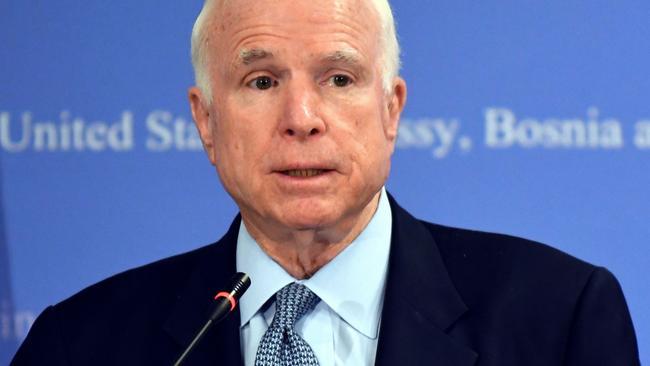 US senator John McCain.