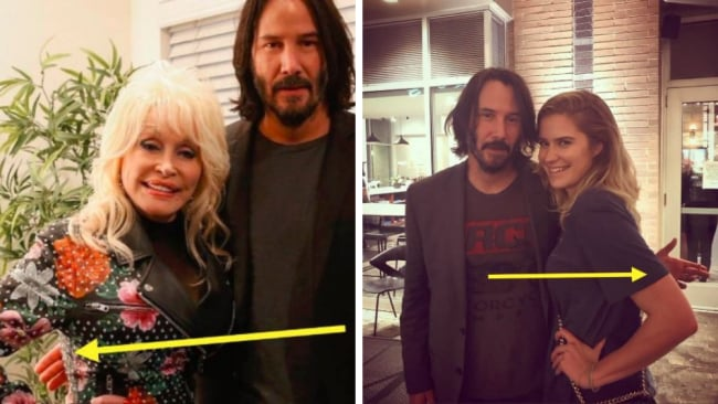 Keanu's thoughtful gesture has resonated with women. Picture: Twitter.