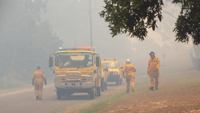 Thousands of residents who were evacuated from Noosa to escape the path of a bushfire are unable to go home. Picture: AAP Image/Rob Maccoll