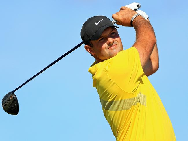 Patrick Reed of the United States was penalised two strokes. Picture: Mike Ehrmann