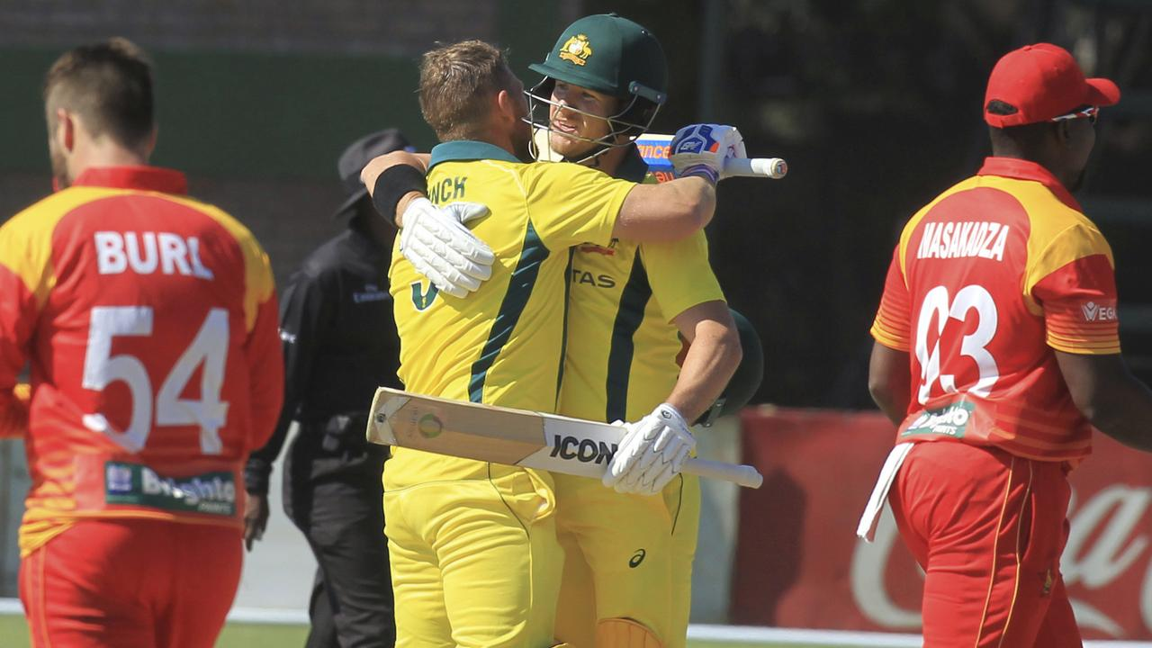 Aaron Finch hammered 172 off 76 balls.
