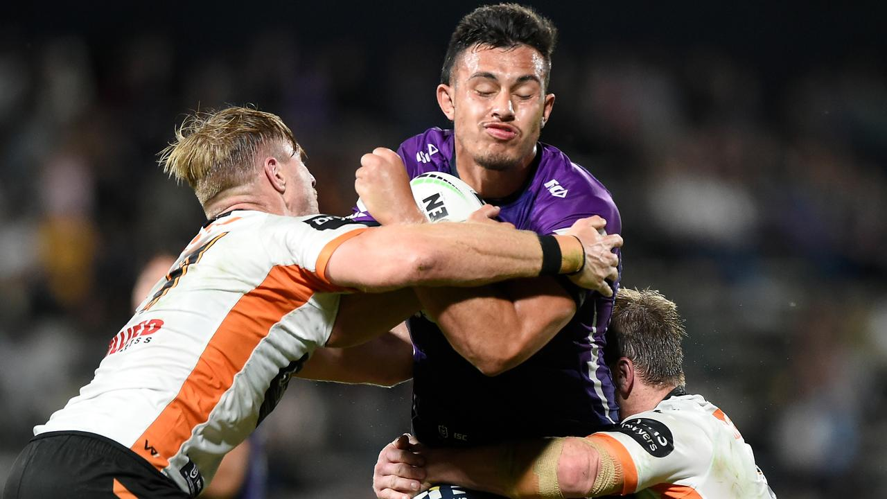 Tino Fa'asuamaleaui ius a bolter for JT's Queensland second row.