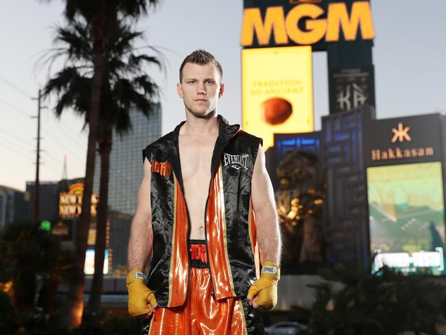 Jeff Horn should be wary of a 'traditional' Las Vegas welcome. Picture: Peter Wallis