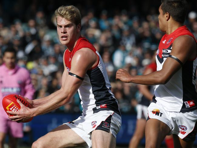 Jack Watts in action against Port Adelaide. Photo Sarah Reed.