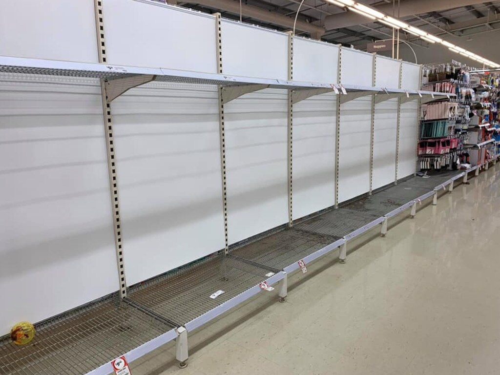 It might look like old photos from March, but this was taken in Berkeley Coles just 12 hours ago. Picture: Facebook