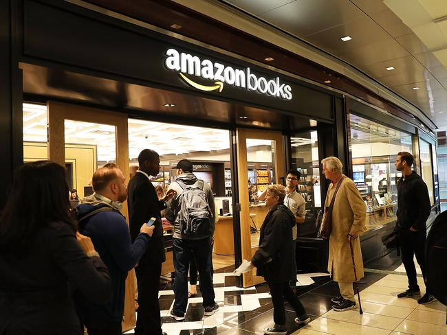 Critics say Amazon has crushed small businesses including books stores, local grocers and boutiques. Picture: Spencer Platt/Getty Images/AFP