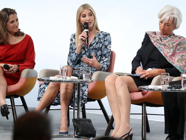 Ivanka Trump said she was still figuring out her role 100 days into being the First Daughter. Picture: Sean Gallup/Getty Images.
