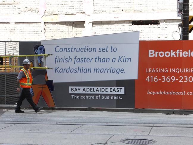 Kim Kardashian's brief marriage was the butt of jokes. Picture: Splash News