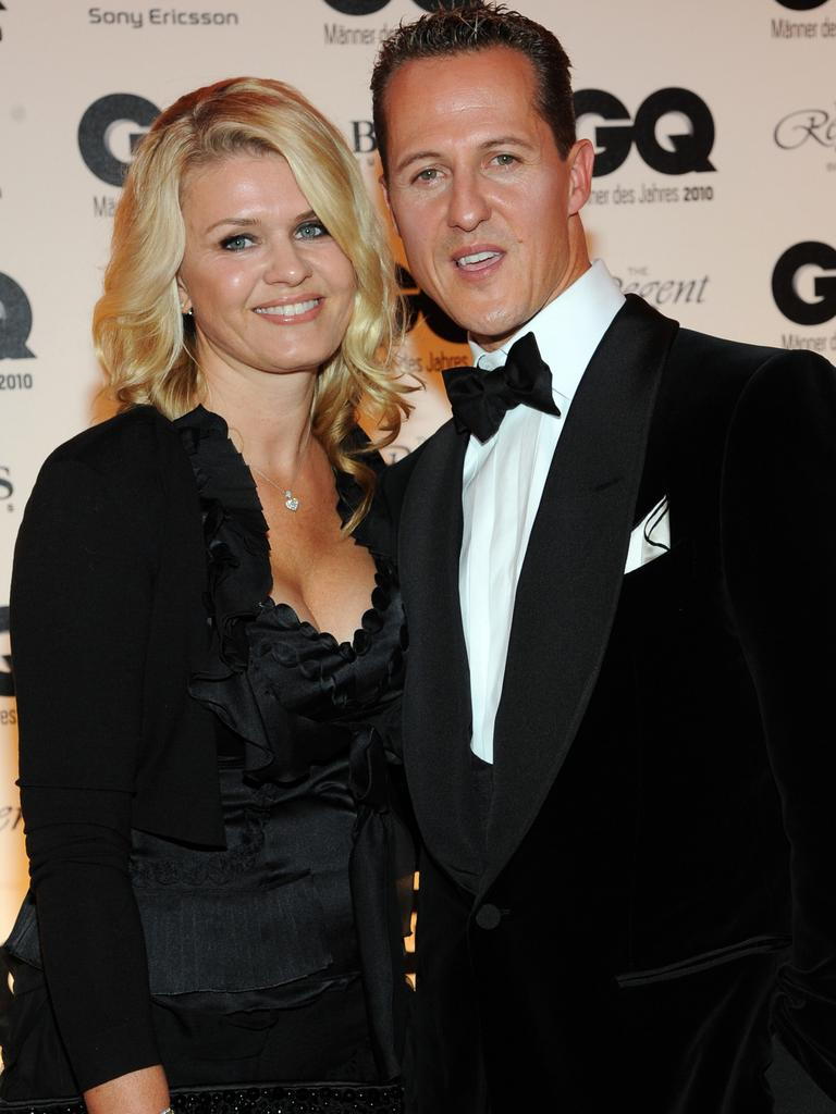 Schumacher's wife Corinna has kept her lips sealed on the F1 icon's condition.