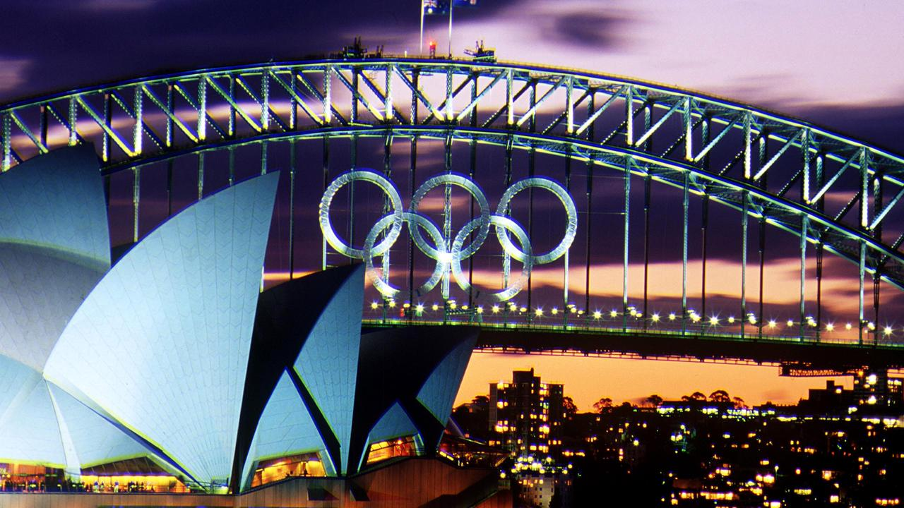 A photo from 2000, when Sydney hosted the Olympic Games. The Sydney Harbour Bridge and Sydney Opera House (in the left of the picture) are two of the most recognisable images of Australia. Picture: Getty Images