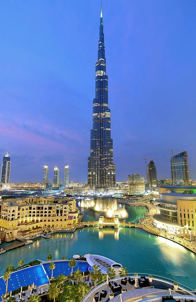Dubai's Burj Khalifa at dusk, the world's tallest building. Picture: Dubai Tourism.