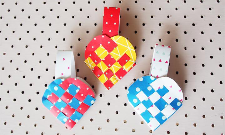 Paper heart baskets