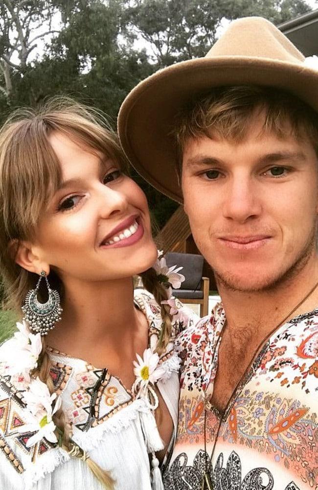 Cricketer Adam Zampa with his fiancee Harriet Palmer. Picture: Supplied.