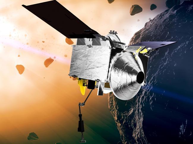 The Osiris-Rex spacecraft also entered orbit Monday, Dec. 31, 2018, around the asteroid Bennu, 110 million kilometres from Earth. Picture: Goddard Space Flight Center/NASA/AP