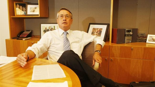 Treasurer Wayne Swan office at Parliament House in Canberra two days before the 2009 Budget.