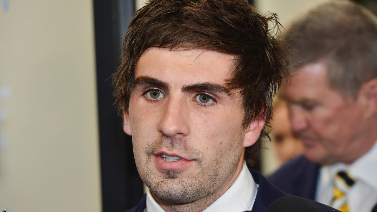 West Coast Eagles player Andrew Gaff fronts the AFL tribunal. Photo: Jason Edwards