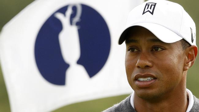 Golfer Tiger Woods seen here at the British Open Golf championship in 2009. Rory McIlroy says he has as a good a chance as anyone to claim the major.
