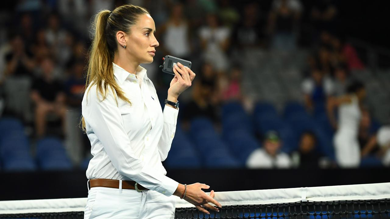 Marijana Veljovic turned the sensitivity down on the let detector, according to Kyrgios. (Photo by William WEST / AFP)