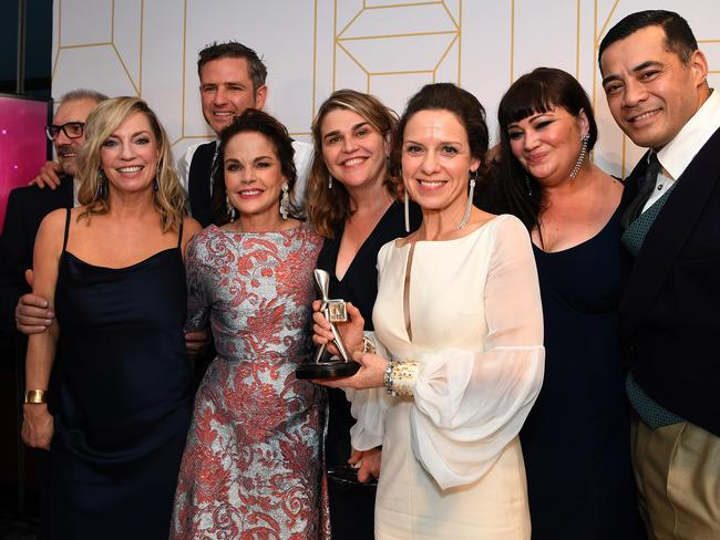 The cast of Wentworth picked up their second Logie win in this category. Picture: AAP Image/Dan Peled