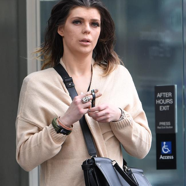 Jonita Ragaisyte leaves court on Friday. Picture: Julian Smith/AAP