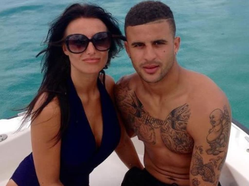 Kyle Walker with Annie Kilner.
