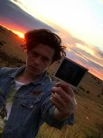 "Brooklyn Beckham gets pouty in Africa...""#africansunset."" Picture: Brooklyn Beckham / Instagram"