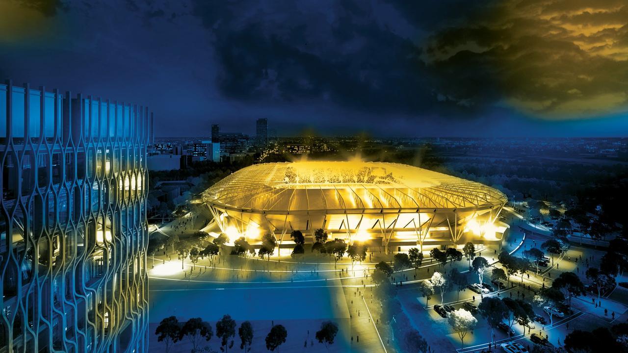 An artist's impression of the new Western Sydney Stadium.