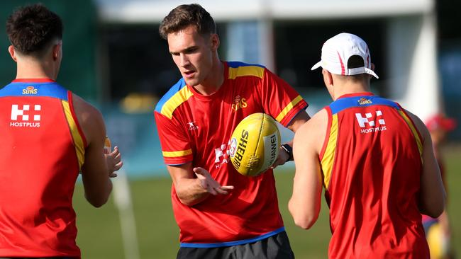 Jack Scrimshaw looms as a key player for the Gold Coast Suns for AFLX. Picture: Stewart McLean