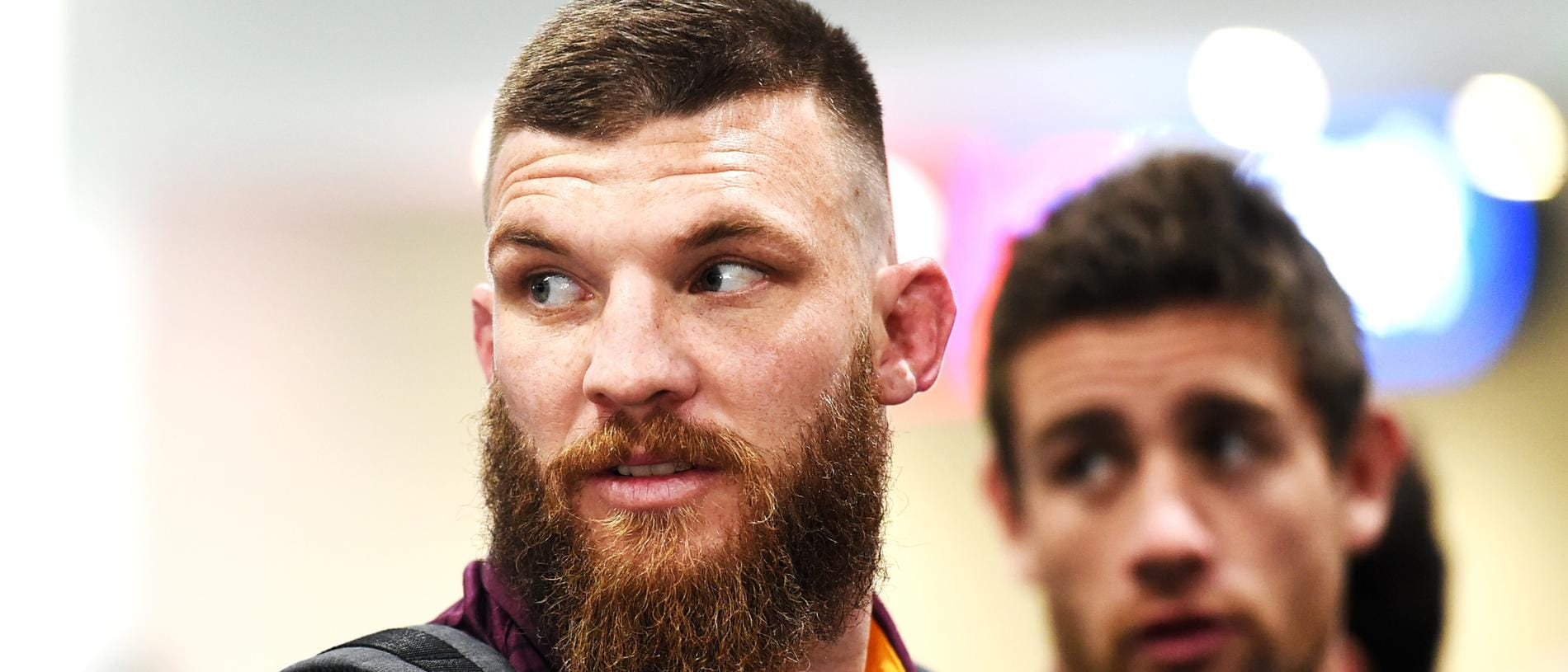 NRL: Broncos players at airport before Cowboys clash